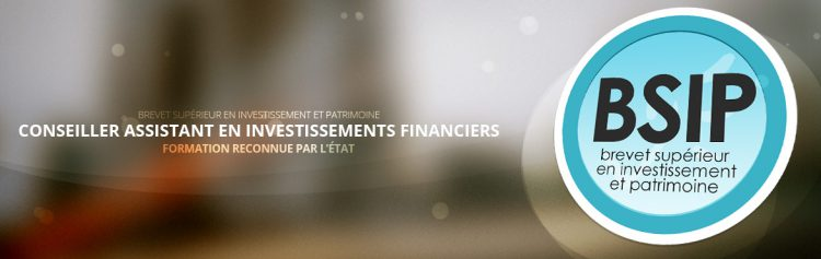 Bannière du BSIP - une formation reconnue par l'état pour les futurs conseillers assistants en investissement financiers