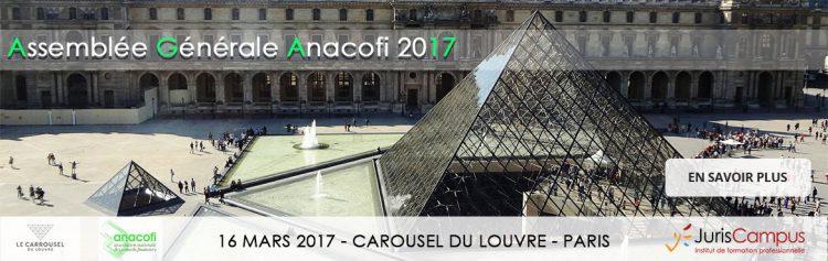 Bannière de l'Assemblée Générale de l'ANACOFI 2017