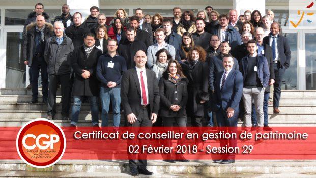 Rentrée du certificat de conseiller en Gestion de Patrimoine – Session 29