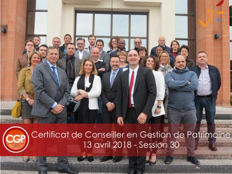 Certificat de conseiller en Gestion de Patrimoine – 30ème Session