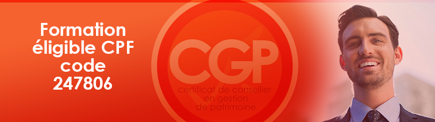 Formation eligible CPF code 247806 CGP