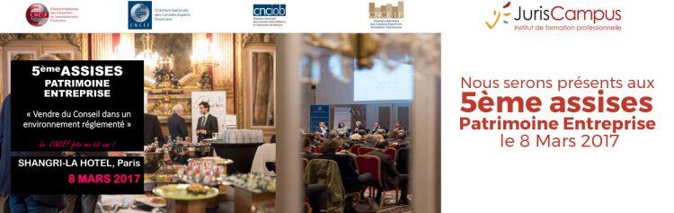 5ème assisses de la CNCEF – Jeudi 9 Mars 2017 – Paris