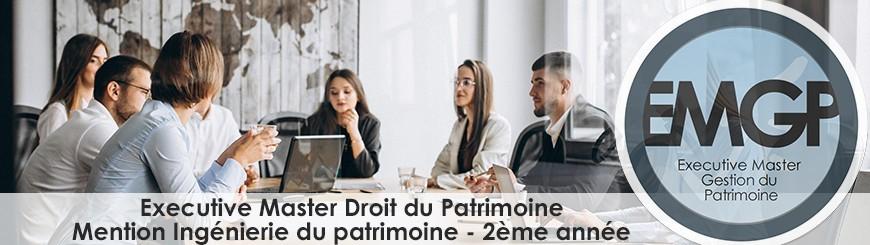Executive Master droit du Patrmoine 2eme annee