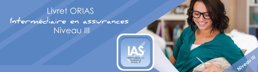 Livret ORIAS intermédiaire en assurances Niveau 3
