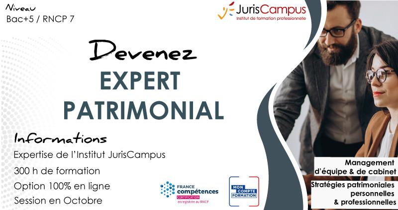 Devenez Expert Patrimoinial avec Juriscampus